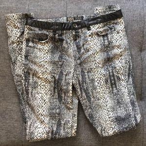ZARA snake pants